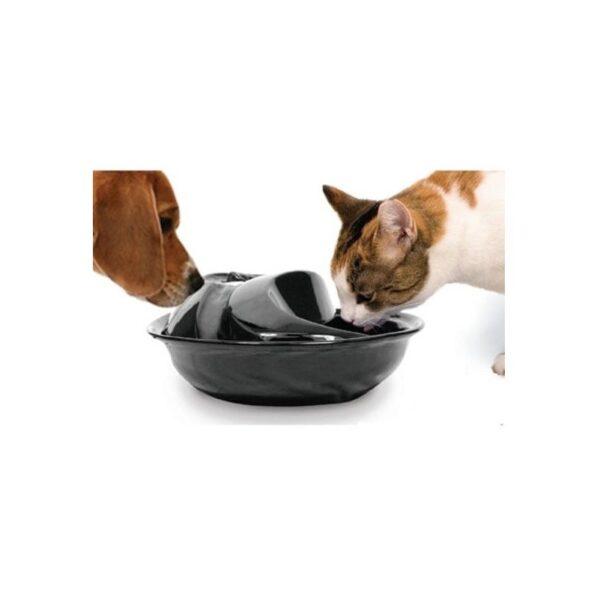 Pioneer Pet Raindrop keramiek keramische aardewerk drinkfontein waterfontein voor katten en honden zwart