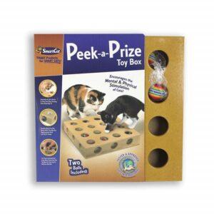 Pioneer Pet Peek-a-Prize Toy Box - kattenspeeltje - voedselpuzzel - kattenpuzzel