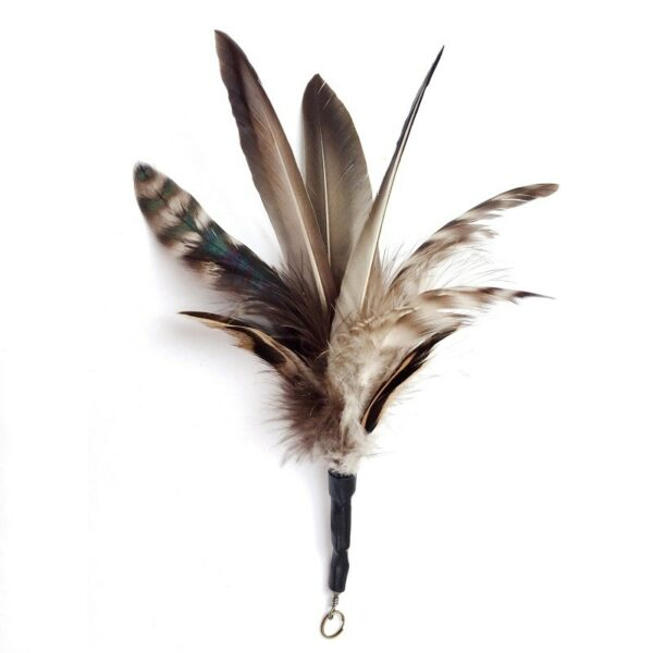 Purrs Cat Toys Dashin' Duck prooi navulling voor Purrsuit hengel - kattenspeeltje - echte eenden veren