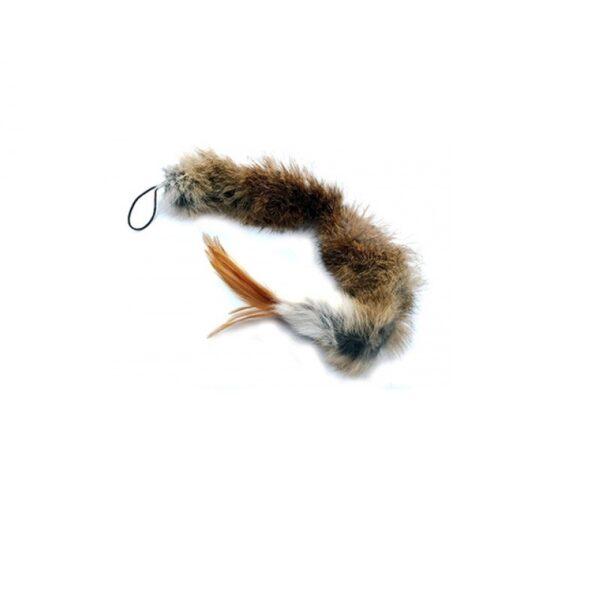 Purrs Cat Toys Wild Hare SquidlyDidly prooi navulling voor Purrsuit hengel - kattenspeeltje - hazenvacht