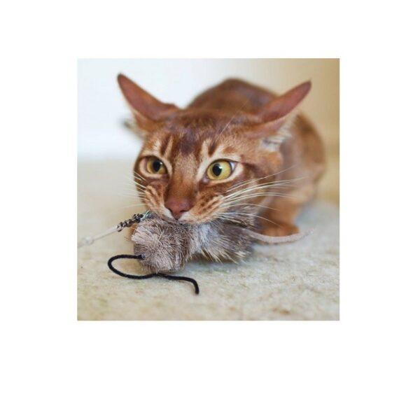 Purrs Cat Toys Mouse prooi navulling voor Purrsuit hengel - kattenspeeltje - muis kat die speelt
