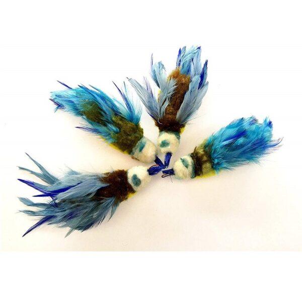 Purrs Cat Toys Bluetit Pimpelmees prooi navulling voor Purrsuit hengel - kattenspeeltje - vogel