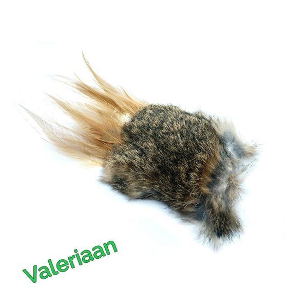 Purrs Cat Toys Wild Hare Stinky Puff prooi navulling voor Purrsuit hengel - kattenspeeltje - kattenhengel hazenvacht met valeriaan