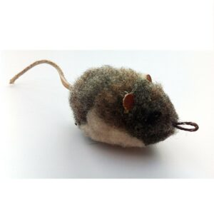 Purrs Cat Toys Woolly Vole veldmuis prooi navulling voor Purrsuit hengel - kattenspeeltje - woelmuis detail