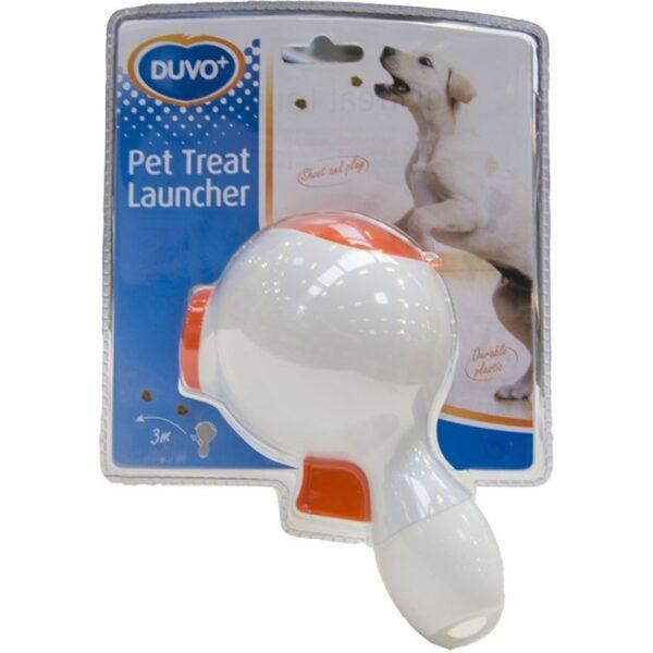 DUVO+ Pet Treat Launcher - snoepjes pistool om traktaties voor kat of hond weg te schieten verpakking