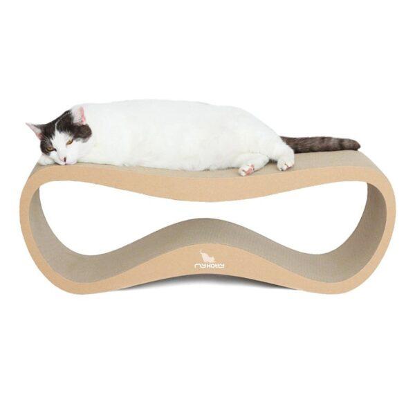 myKotty LUI duurzaam kartonnen krabmeubel voor katten bruin