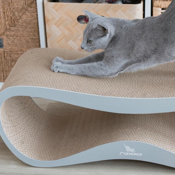 myKotty LUI scratcher duurzaam kartonnen krabmeubel voor katten grijs detail