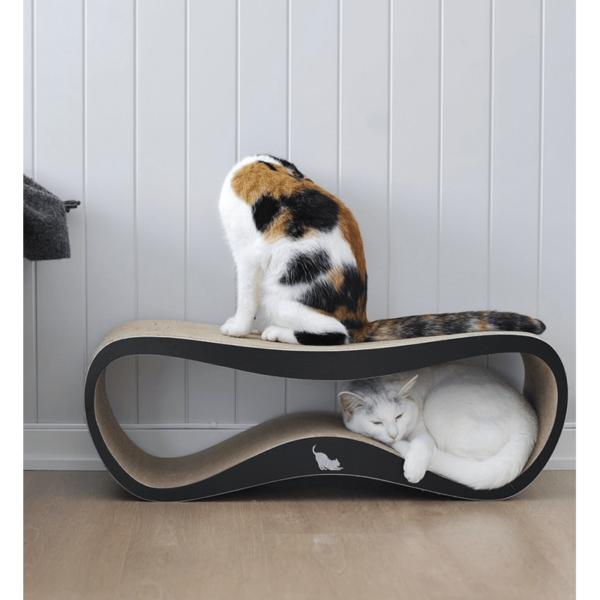 myKotty LUI scratcher duurzaam kartonnen krabmeubel voor katten zwart