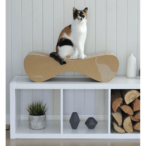 myKotty VIGO scratcher duurzaam kartonnen krabmeubel voor katten bruin