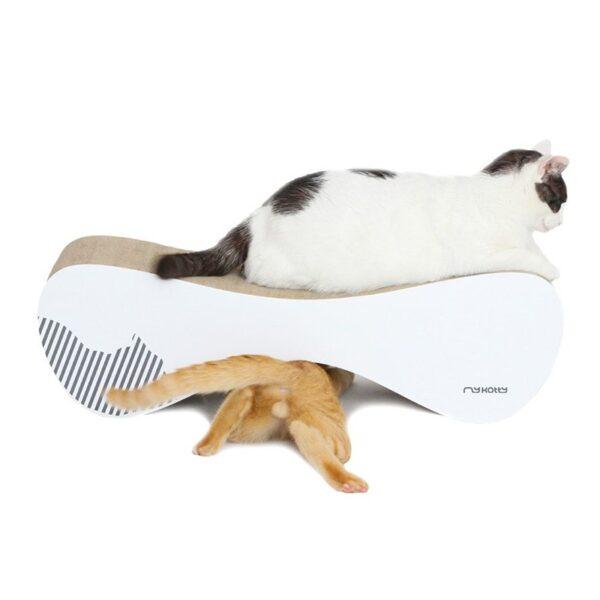 myKotty VIGO scratcher duurzaam kartonnen krabmeubel voor katten wit katten spelen