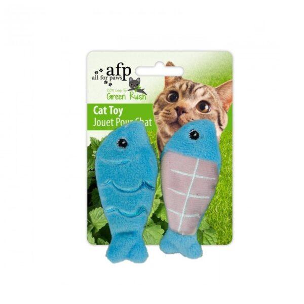 AFP Catch Of The Day super toffe met kattenkruid catnip gevulde vis kattenspeeltje