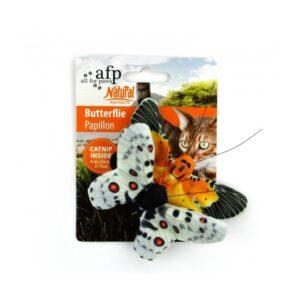 AFP Natural Instincts Butterflies super toffe met kattenkruid catnip gevulde vlinders kattenspeeltje