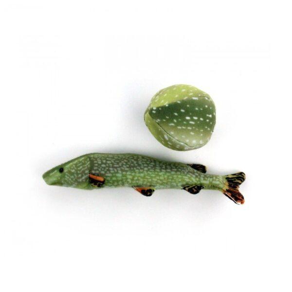 AFP Natural Instincts Fish & Ball super toffe met kattenkruid catnip gevulde vis en bal kattenspeeltje