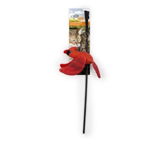 kattenhengel AFP All For Paws Natural Instincts Flying Bird vogel met kattenkruid (catnip) rood