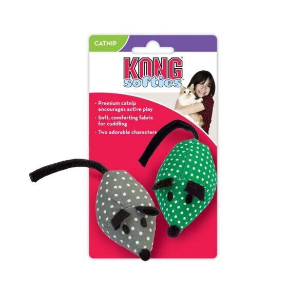Kong Softies muisjes gevuld met kattenkruid catnip kattenspeeltje