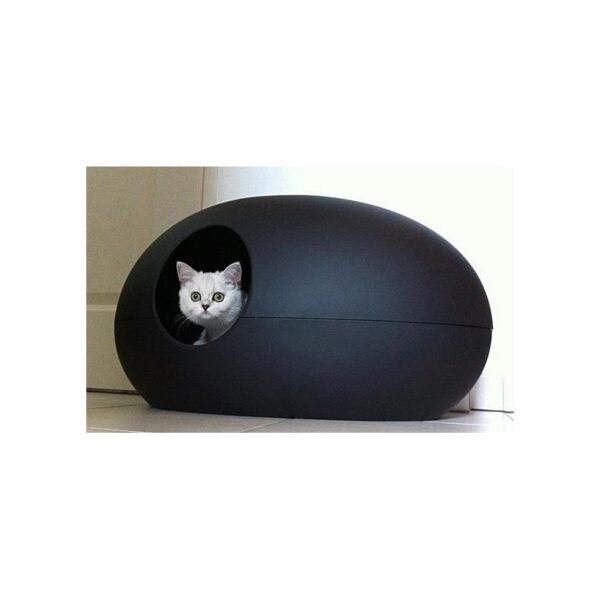 Poopoopeedo design kattenbak zwart kat