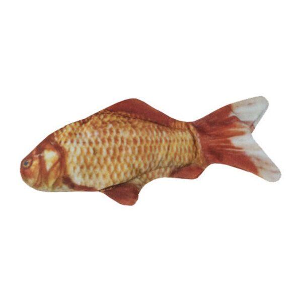 Wild Life Collection Goldfish goudvis met kattenkruid catnip gevuld mooi zacht kattenspeeltje