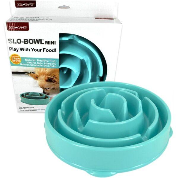 Dog Games slo-bowl mini drop slow feeder voerpuzzel voor katten en honden