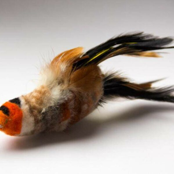 Purrs Cat Toys Goldfinch goudvink distelvink prooi navulling voor Purrsuit hengel kattenhengel - kattenspeeltje