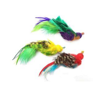 Purrs Cat Toys Parakeet parkiet prooi navulling voor Purrsuit hengel kattenhengel - kattenspeeltje