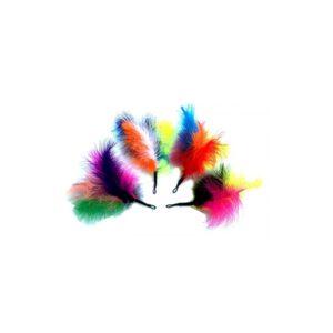 Purrs Cat Toys Rainbow Fluffer regenboog veren prooi navulling voor Purrsuit hengel kattenhengel kattenspeeltje