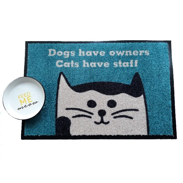 Dogs have owners cats have staff vloermat deurmat DUVO+