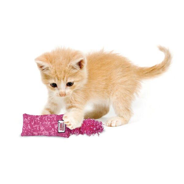 Kong Kickeroo trappelkussen speciaal voor kittens en kleine katten met kattenkruid catnip - diverse kleuren
