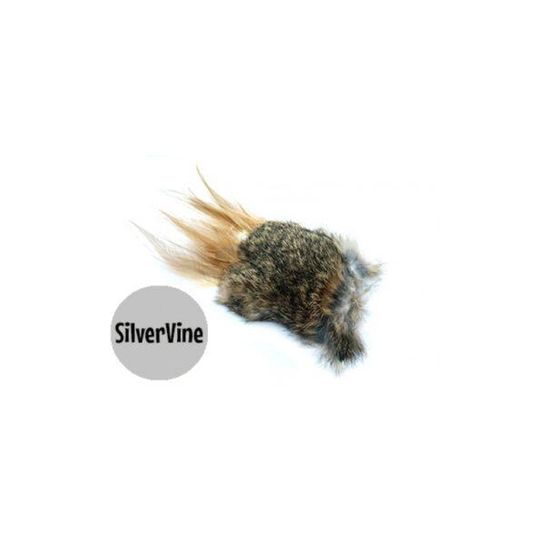 Purrs Wild Hare Puff standalone prooi met matatabi (silver vine) kattenspeeltje - hazenvacht
