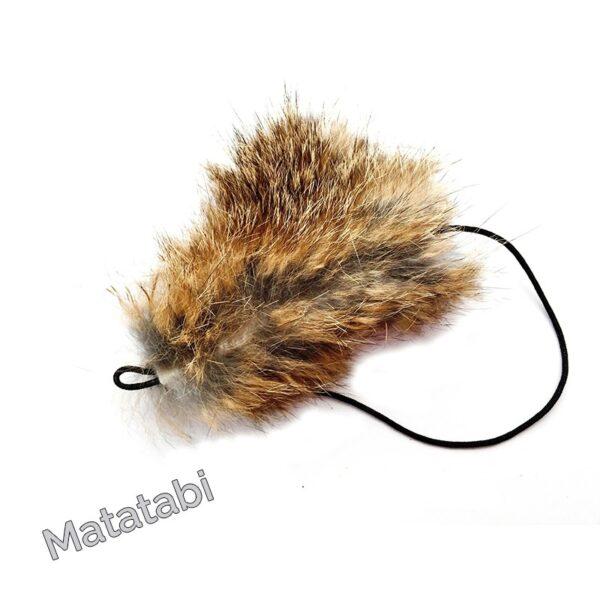 Purrs Wild Hare Mouse matatabi navulling voor Purrsuit hengel - kattenspeeltje