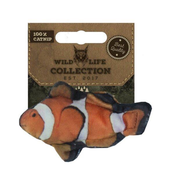 Wild Life Collection Clownfish kattenspeeltje met kattenkruid (catnip)