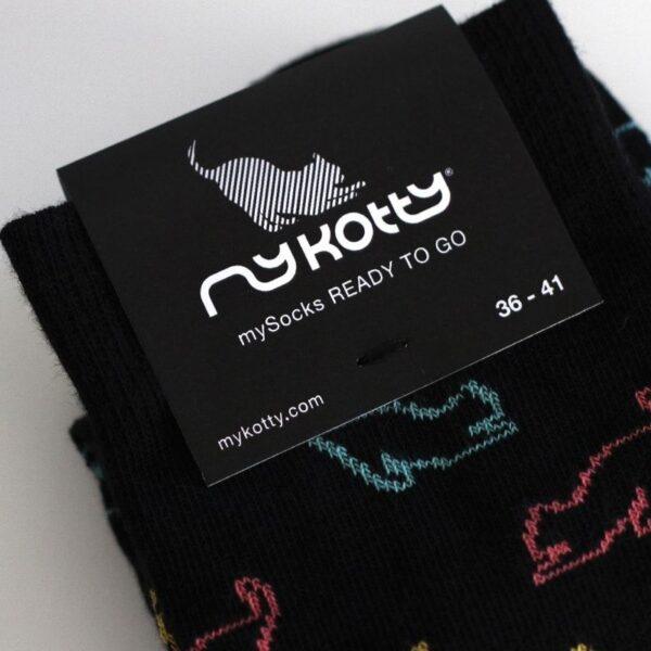 myKotty sokken kousen READY TO GO sokken met katten op