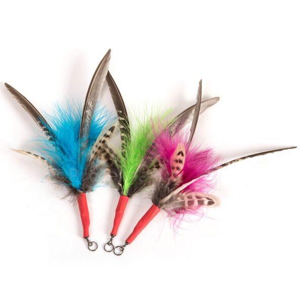 Purrs Feather Spinner 3 pack - prooi navulling voor Purrsuit hengel - kattenspeeltje - kattenhengel per 3