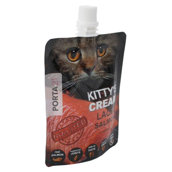 Porta 21 - Kitty's Cream met zalm vloeibare kattensnack gezonde snack
