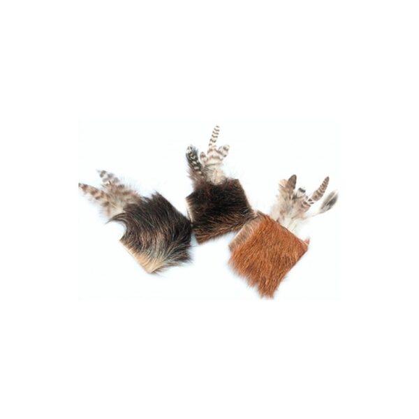 Purrs Cat Toys Billy Goat - standalone kattenspeeltje van Purrs met valeriaan geitenvacht en veren