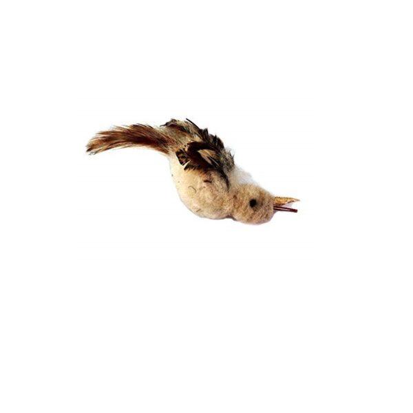 Purrs Cat Toys Natural Nightingale prooi navulling voor Purrsuit hengel - kattenspeeltje - kattenhengel