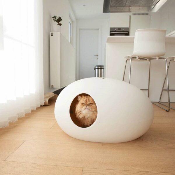 Poopoopeedo - kattenbak of kattenmand wit
