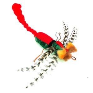 Purrs Cat Toys Dragonfly libelle prooi navulling voor Purrsuit hengel - kattenspeeltje - kattenhengel