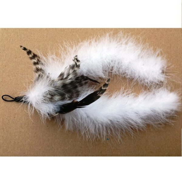 Purrs Cat Toys Fluffy Chaser prooi navulling voor Purrsuit hengel - kattenspeeltje - kattenhengel - schapenvacht veren