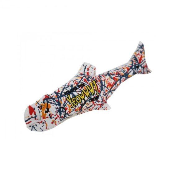 Yeowwww! Pollock vis met kattenkruid catnip trappelkussen