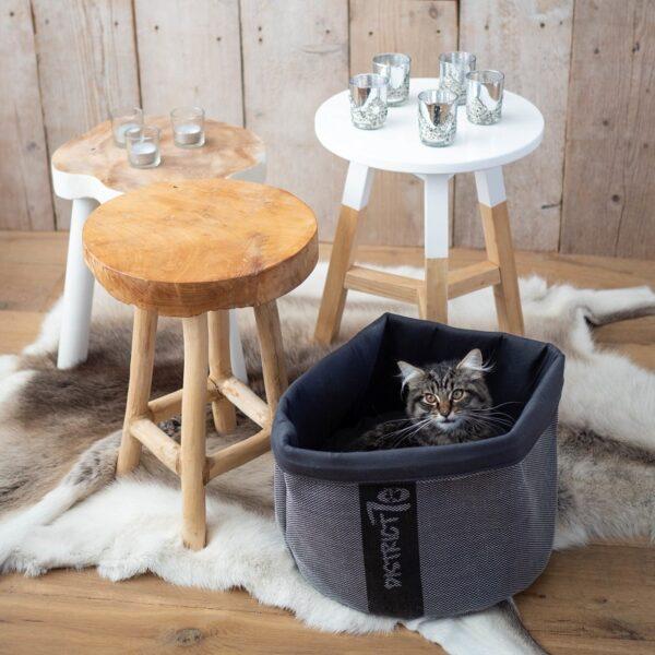 District 70 - COZY Donkergrijs kattenmand kattenbed slaapmand voor katten of honden