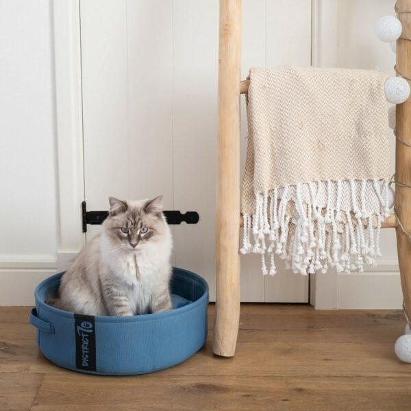 District 70 - Lounge Denim Blue kattenmand kattenbed slaapmand voor katten of honden