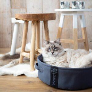 District 70 - Lounge donkergrijs kattenmand kattenbed slaapmand voor katten of honden
