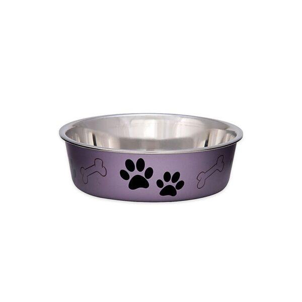 Loving Pets - Bella Bowl Metallic Grape snorhaarvriendelijk drinkbak eetbak katten honden