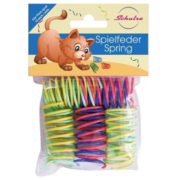 Schulze - Kleurrijke springveren - kattenspeeltje