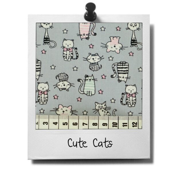 greenPAWS - Cute Cats patroon stof