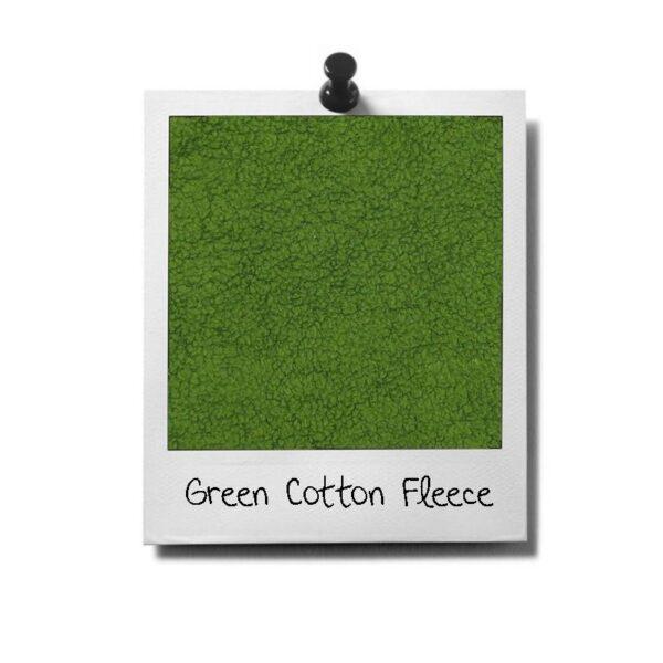 greenPAWS - Green Cotton Fleece Rupsie stof