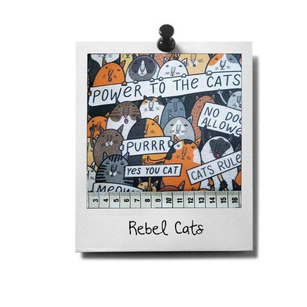 greenPAWS - Rebel Cats patroon stof