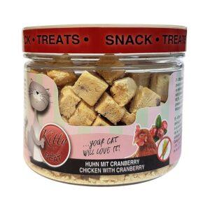 Kitty Beat Kip Veenbessen 35 gram gezonde snack voor katten
