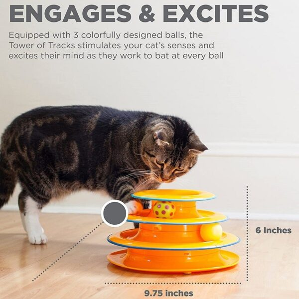 Petstages Tower of Tracks engages