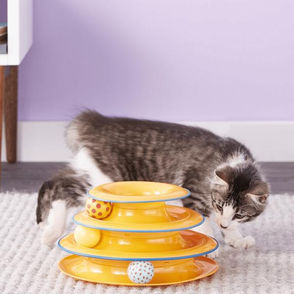 Petstages Tower of Tracks kat spelen 3